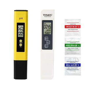 Digital 4en 1TDS PH EC Température Mètre kit 0–9999us/CM conductivité électrique 0,01Résolution pour des effets de l'eau potable, hydroponie, aquariums, piscine