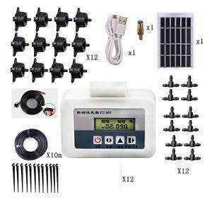 FairOnly Kit de contrôleur d'arrosage automatique intelligent et solaire