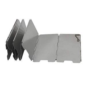 Fifet Mini-Glace Camping Cuisinière Coupe-Vent Plaque Pliable en Alliage d'aluminium, pour Pique-Nique en Plein air de Cuisson Utilisation