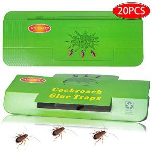 Fullsexy 20pcs Pièges à Cafards avec Appât Piège Colle Tueur Attrape Cafards Répulsifs à Insectes Non Toxique