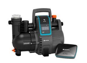 GARDENA Kit smart Pressure Pump: station de pompage à commande par app/tablette, avec passerelle smart Gateway, débit 5000 l/h, protection contre le fonctionnement à sec, joint céramique (19106-20)