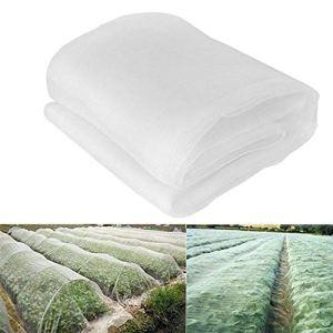 INGHU 11 Filet de protaction anti-inseetes en maille fine pour jardin, serre, plantes, fruits, fleurs, cultures Repousse-pesticides, 10×2.5m