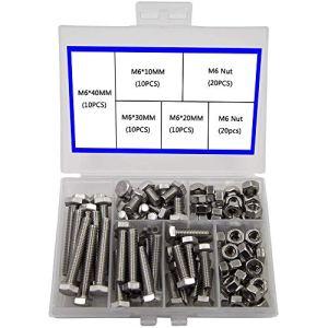 M6 304 Industrie de Machines Réglée de Boulon de Sortilège Hexagonal D'acier Inoxydable de Coin Extérieur de, Boulons et écrous de Sortilège