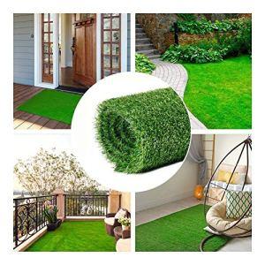 NINGWXQ Gazon Synthétique Artificiel Paysage Bricolage Decor (Lawn), Jardin, Terrasse, Balcon, Terrain de Golf, Etc – Vert Naturel Haute Densité (Color : Green3.0cm, Size : 2x7m)