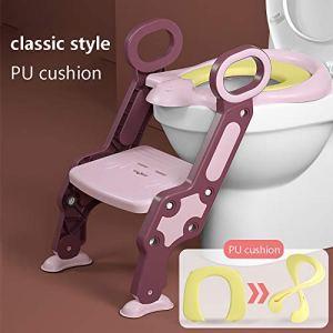 no!no! Potty Training Seat,Type d'escalier,Enfant Urinoir De Toilette,réglage de la pédale en 2 étapes,Potty Training Chair,Bébé Formation Siège de Toiletteéchelle marches Pliable Enfant WC,