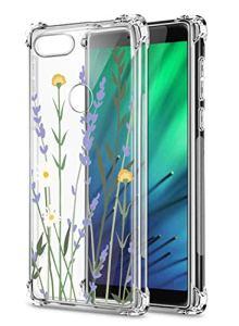Oihxse Transparent Coque pour Xiaomi Redmi 6 Pro/A2 Lite Souple TPU Silicone Protection Etui Air Cushion [Shock-Absorption] [Anti-Rayures] Fleurs Motif Housse Bumper (B18)