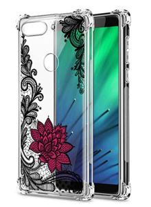 Oihxse Transparent Coque pour Xiaomi Redmi K30/K30 Pro Souple TPU Silicone Protection Etui Air Cushion [Shock-Absorption] [Anti-Rayures] Fleurs Motif Housse Bumper (B6)