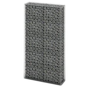 Panier de gabion en Acier galvanisé 85 x 30 x 200cm(L x l x H) et Diamètre du fil 4mm Argenté