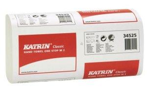 papier Katrin serviettes pliées classique One Stop M2, blanc, deux plis, 23,5 x 8,5 cm, la qualité recyclé, PACK SIMPLE – 145 St.