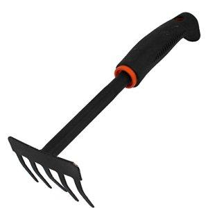 Poignée antidérapante Noir Jardin main désherbage Bow Rake 28cm long