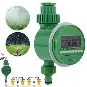 Programmateur Arrosage Automatique Electrique 3/4 «avec Ecran LCD 1m – 9h 59m,Minuteur Arrosage Numérique Irrigation Automatique pour Jardin Pelouse