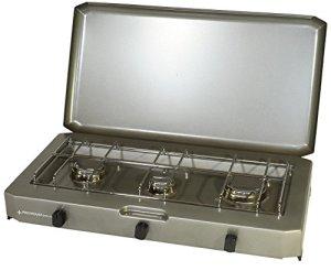 PROVIDUS-PROWELTEK PR1086 FT 300 Réchaud à Gaz 3 Feux avec Couvercle 3100 W