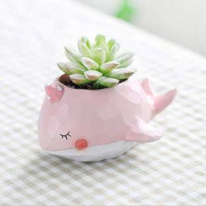 Rishx Animal Flower Plante en Pot Pots Pote Résine Succulenta Bureau Mobilier Accueil Bureau Décoration Bureau Artisanat décoratifs (Taille : 2)