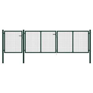 vidaXL Portail de Jardin Acier 400 x 100 cm Vert