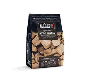 Weber de fumage Wood Chunks morceaux de bois Hickory, marron, 17,8x 8,9x 30,5cm, 17619