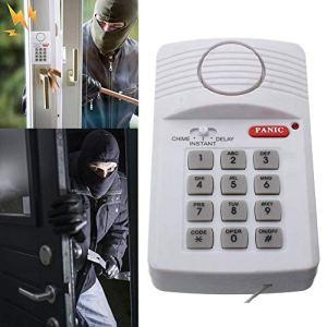 Alarme de sécurité sans Fil Defender pour Maison, Garage, abri de Jardin, Caravane avec Clavier pour Porte fenêtre, alimentée par 3 Piles AA (Non fournies)