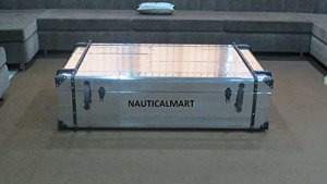 Aviator Aluminum Trunks with Faux Leather and Rivet Accents by Nauticalmart