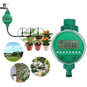 Boruit LCD imperméable à l'eau numérique minuterie d'arrosage automatique minuterie électronique jardin contrôleur d'irrigation