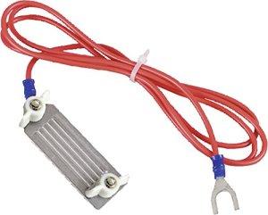 Cable de raccordement cloture ligneruban, acier, avec fiche 3 mm, pour rubans 40 mm, l'unité – 170601