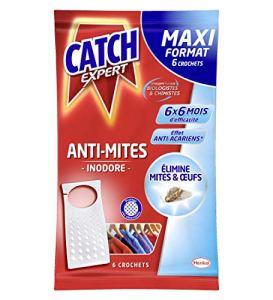 CATCH Inodore Set de 6 Crochets Anti-mites Maxi Format