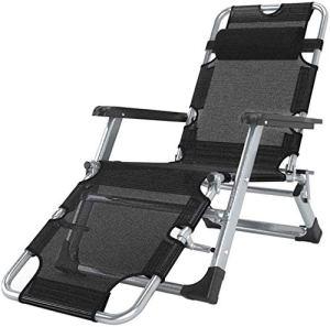 Chaise balancelle Apesanteur chaises longues chaises longues terrasse du jardin pliant portable bascule support de chaise 200 kg,Black