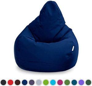 Chaises Sacco, chaise de salon en plein air intérieur, l'eau, le soutien du corps, durable et confortable,Blue