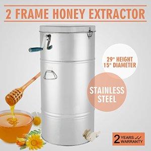 Chaneau Extracteur De Miel Manuel En Acier Inoxydable 201 Honey Extractor à 2 Cadres