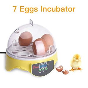 Elikliv Automatic 7 Eggs Incubator Smart Digital Hatch Tool for Duck Bird Chicken Goose