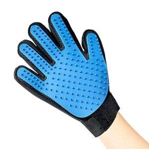 Euronovità accessoires pour chien–gant 5doigts/Brosse de massage/Supprime poils courts et longs