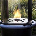 FABER TheTUBE [Cheminée à gaz extérieur]: Propane/butane bouteille de gaz