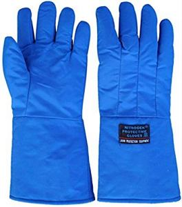 GJJSZ Cold Gloves Réfrigération Dry Ice Warm Warm Gloves Low Temperature Liquid Nitrogen Antifreeze Gloves (Color: Blue,Size: 38cm,45cm,60cm)