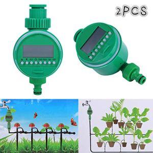 GOTOTOP 2pcs Programmateurs Arrosage Automatique Electrique Minuterie avec Affichage Numérique pour Jardin Pelouse (2pcs)
