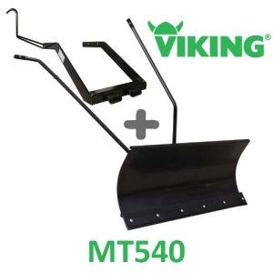 Lame à Neige 118 cm Noire + adaptateur pour Viking MT540