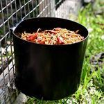 LITTLE FARMER PRODUCTS Mangeoire pour poulailler et Oiseaux en Plastique Noir Durable 64 oz