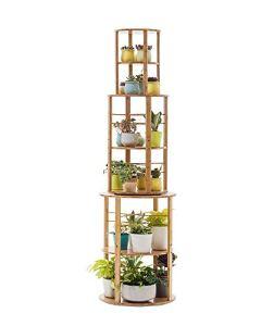 LLHAI Support de Pot de Fleur de Plante, présentoir de Plante en Pot, Support d'herbe et de Plante, Support de Fleur de Plante Verte,Wood