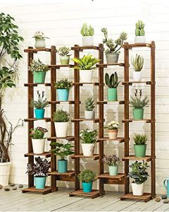 LLHAI Support de Stockage de présentoir de Fleur, présentoir pour Plante en Pot, Support de Pot de Fleur,Threerows,150cm