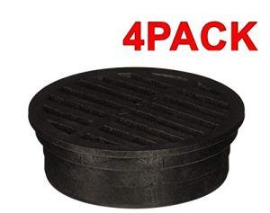 NDS – Grille ronde en plastique 4 Pack 4-inch
