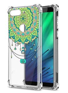 Oihxse Transparent Coque pour Xiaomi Mi A2/Xiaomi Mi 6X Souple TPU Silicone Protection Etui Air Cushion [Shock-Absorption] [Anti-Rayures] Fleurs Motif Housse Bumper (B2)