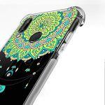 Oihxse Transparent Coque pour Xiaomi Mi A2/Xiaomi Mi 6X Souple TPU Silicone Protection Etui Air Cushion [Shock-Absorption] [Anti-Rayures] Fleurs Motif Housse Bumper (B2)