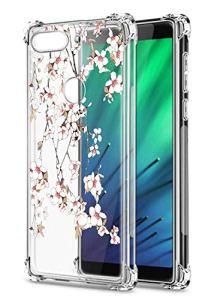 Oihxse Transparent Coque pour Xiaomi Redmi 6 Souple TPU Silicone Protection Etui Air Cushion [Shock-Absorption] [Anti-Rayures] Fleurs Motif Housse Bumper (B15)