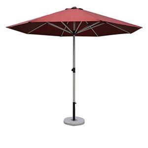 Parasol extérieur/Parasol de Jardin/Parasol de terrasse, Fonctionnement en Alliage d'Aluminium imperméable et résistant aux Rayons UV, Socle Simple et Moderne en marbre