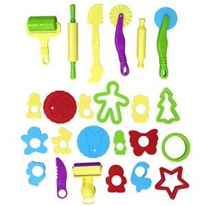 PRETYZOOM Kit D'outils d'argile Et de Pâte 24Pcs pour Enfants Divers Moules en Plastique