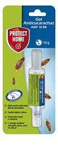 Protect Home Gel anti-cafards, Appât à action instantanée, Efficacité totale, 1 seringue anti-cafards, Bleu, 1 x 10 grammes