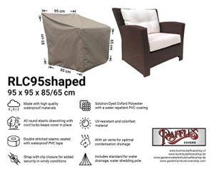 Raffles Covers NW-RLC-95shaped Housse de protection pour fauteuil de jardin en rotin 95 x 95 x 65 cm