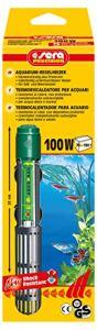 SERA Thermoplongeur pour Aquarium, de qualité, avec Verre de Quartz résistant aux Chocs, Dispositif de Protection, Interrupteur de sécurité de précision