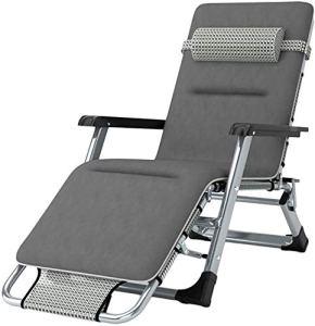 Siège extérieur terrasse jardin pliante balançoire à bascule chaise à bascule zéro gravité, peut incliner, peut supporter le poids,Gray padded