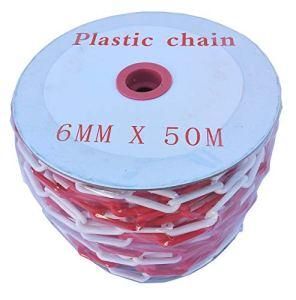 SNS SAFETY LTD Chaîne de Signalisation en Plastique 6mm (Rouge Blanche, 50,0 mètres)