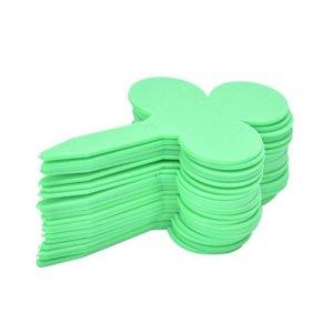 SwansGreen Green Lot de 20 onglets en plastique avec inscription en forme de prune Vert