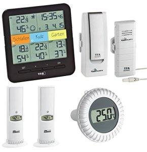 TFA Dostmann Thermomètre/hygromètre sans fil Station avec émetteur de natation piscine piscine de Climat @ Home TFA 30.3060.01. IT.