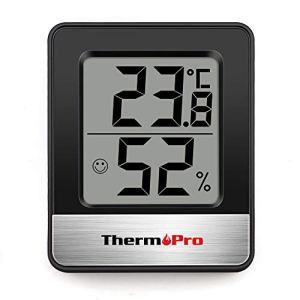 ThermoPro TP49 Petit Hygromètre Numérique D'intérieur Thermomètre D'ambiance Moniteur de Température et Humidimètre pour le Confort du Bureau à Domicile Thermomètre de Reptile
